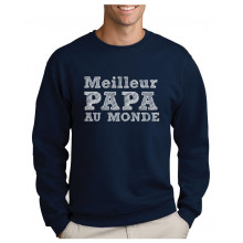 Green Turtle T-Shirts Cadeau Fête des Pères Papa Au Monde Sweatshirt Homme