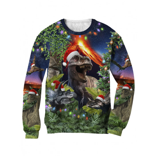 Green Turtle Pull Noel 3D Chats aux Pôle Nord Cat Christmas Jumper