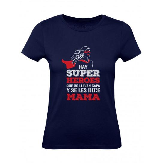 Green Turtle Camiseta para Mujer - Regalo Madre Original - Mi Mamá es mi Súper Héroe