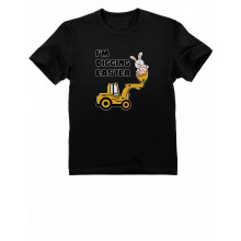 I'm Digging Easter Gift for Tractor Loving Boys Toddler Infant Kids T-Shirt