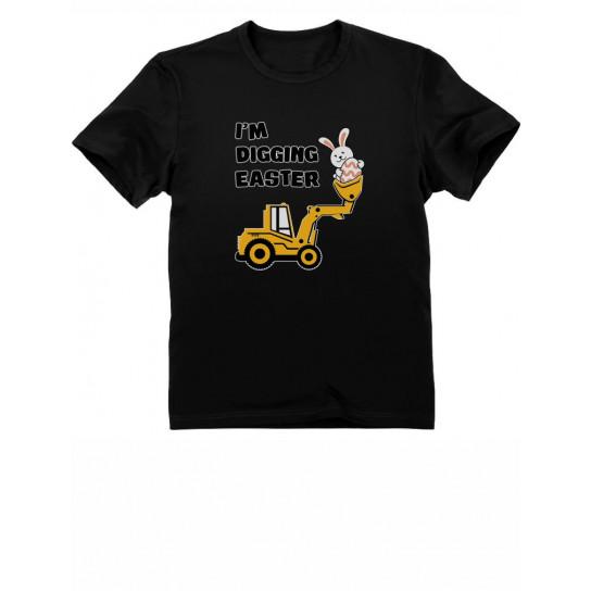 I'm Digging Easter Gift for Tractor Loving Boys Toddler Infant Kids T-Shirt