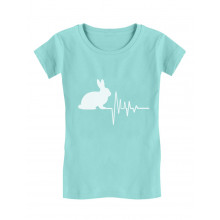 Rabbit Lovers For Easter Girls' Fitted Kids T-Shirt