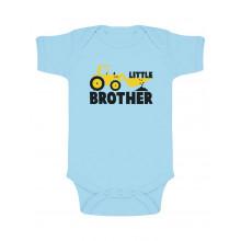Body de Manga Corta para bebé - Little Brother - Regalo para Bebés Recien Nacidos