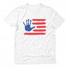 4th of July Hand Print American Flag USA