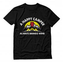 A Happy Camper Always Brings Wine