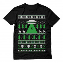 Alien Reindeer Abduction Ugly Christmas Sweater
