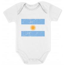 Argentina Flag Retro Vintage Style - Babies