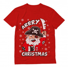 Arrry Christmas Pirate Santa Buccaneer Ugly Xmas