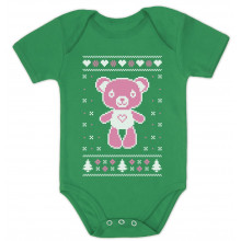 Big Pink Furry Bear Doll - Cute Ugly Christmas Sweater