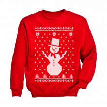 Big Snowman Ugly Christmas Sweater Holidays Cute