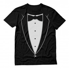 Black Bow Tie Suit