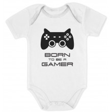Born To Be a Gamer Cute Bodysuit - Future Gamer Funny