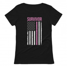Cancer Awareness Survivor American Flag