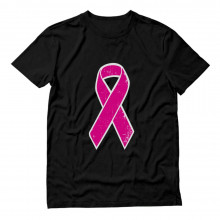 Distressed Pink Ribbon - Breast Cancer Awareness