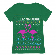 Feliz Navidad Flamingo Ugly Christmas Sweater