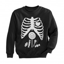 Funny Skeleton Candy Rib-cage X-Ray Halloween Costume