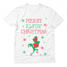 Funny Ugly Christmas Sweater - Merry Elfin Christmas