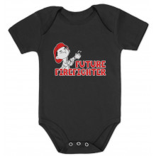 Future Firefighter Unisex Baby Grow Vest Cute