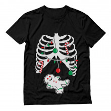 Gingerbread Skeleton Funny Christmas Rib Cage Xray