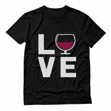Glass of Wine - Wine Drinkers Gift Idea - I Love Wine