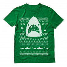 Great White Shark Ugly Christmas Sweater