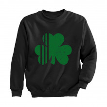 Distressed Striped Green Clover