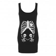 Halloween Pregnant Skeleton Twins Baby Xray Costume
