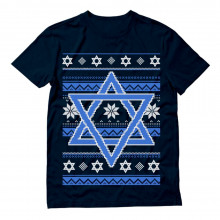 Happy Hanukkah Ugly Holiday Sweater Star Of David