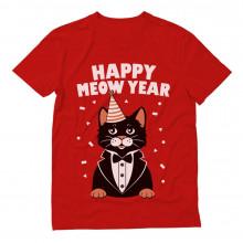 Happy Meow Year - Happy New Year Cat