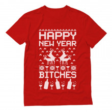 Happy New Year Bitches Ugly Christmas Sweater Funny