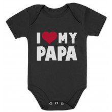 I Love Heart My Papa Cute Onesie