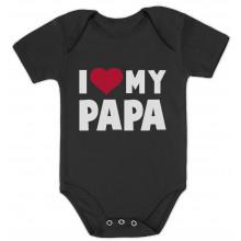 I Love Heart My Papa Babies