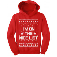 I'm On The Nice List Funny Ugly Christmas