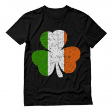 Distressed Irish Flag Clover