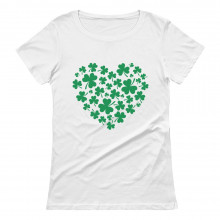 Green Clovers Heart