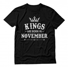KINGS Are Born In November Men's Birthday Gift