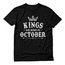 KINGS Are Born In October - Men's Birthday Gift