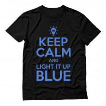 Keep Calm and Light It Up Blue