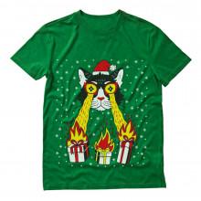 Laser Eyes Xmas Cat Ugly Christmas