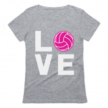 Love Volleyball Pink Ball