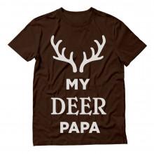 My Deer Papa Reindeer Antlers Christmas