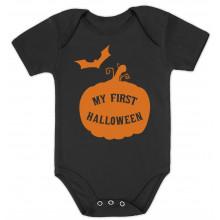 My First Halloween Baby Grow Vest - Cute Pumpkin Unisex