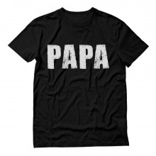 PAPA Distressed Printed