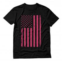 Pink U.S.A Flag