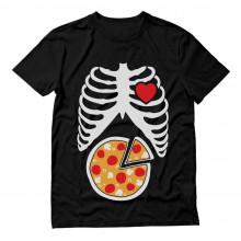 Pizza lover Gift Idea - Skeleton Pizza XRay Rib cage