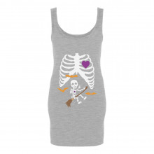 Pregnant Xray Halloween Baby Broom Witch Skeleton