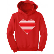 Red Striped Heart Love - Valentine's Day Gift