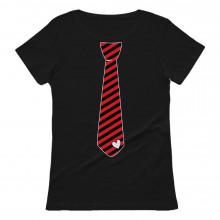 Red Stripes Heart Tie Love - Valentine's Day Gift