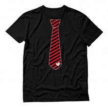 Red Stripes Heart Tie Love - Valentine's Day Gift