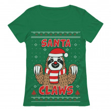 Santa Claws Sloth Ugly Christmas